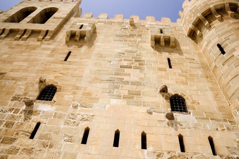 qaitbey крепости стоковая фотография rf