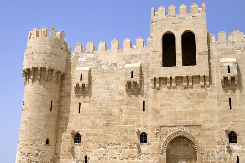 Download Qaitbey Fortress, Egypt stock image. Image of architecture - 7620721
