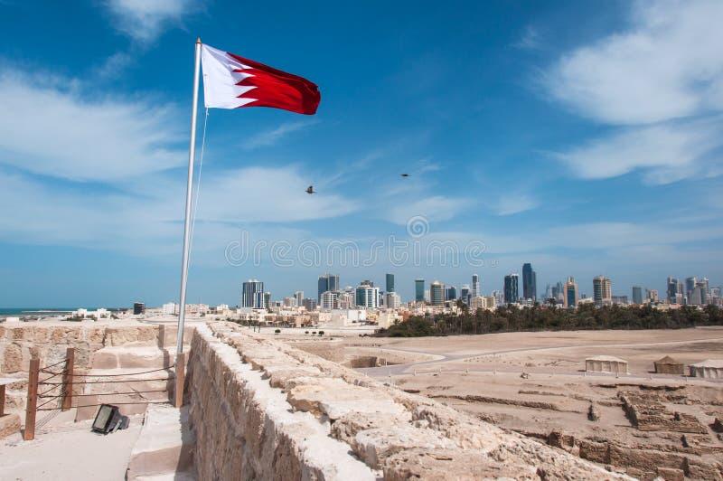 Qal'At Al Bahrain Fort, isola del Bahrain immagini stock libere da diritti