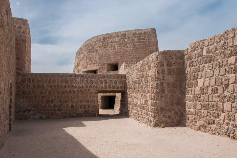 Qal'At Al Bahrain Fort, isola del Bahrain fotografie stock libere da diritti