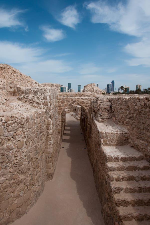Qal'At Al Bahrain Fort, isola del Bahrain immagine stock