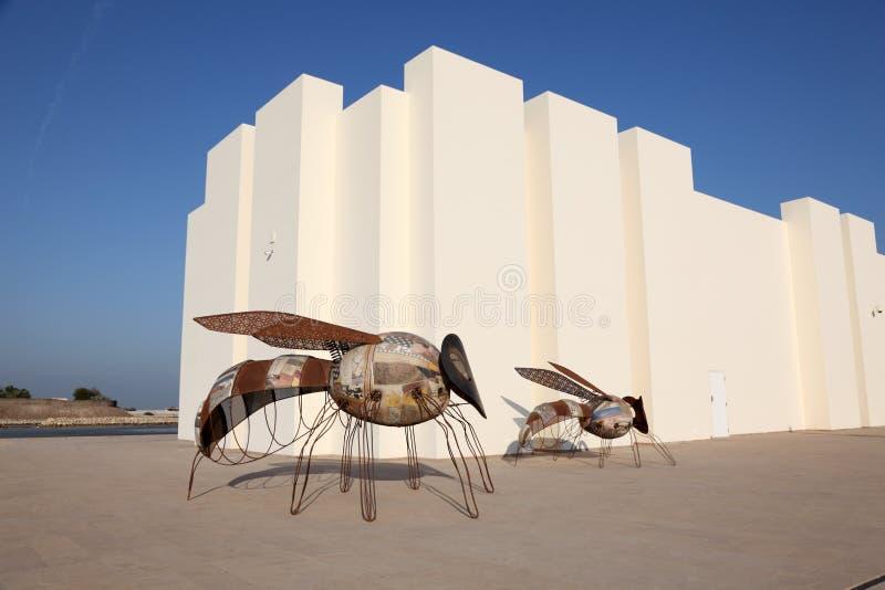 Qal'at al-Bahrain platsmuseum i Manama royaltyfri fotografi