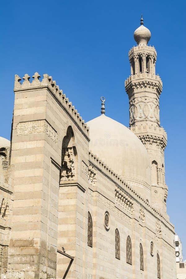Qalawun complex, Al-Muizz Street, islamic Cairo, Egypt stock image