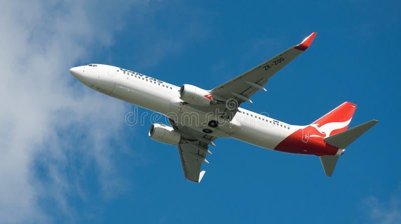 Qantas A330 In Flight Editorial Stock Photo