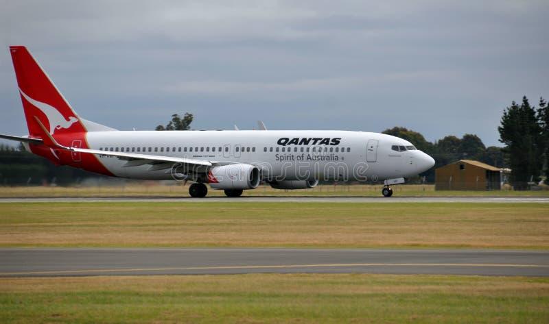 Download Qantas Boeing 737-800 Lands At Christchurch Editorial Image - Image: 17312165