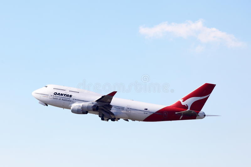 Download QANTAS BOEING 747 editorial stock image. Image of aeroplane - 25075829