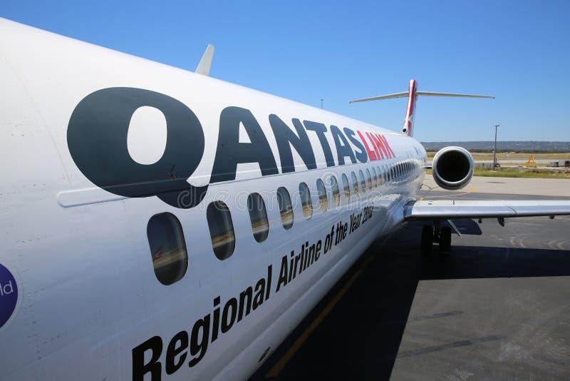 Qantas-Vliegtuig royalty-vrije stock foto