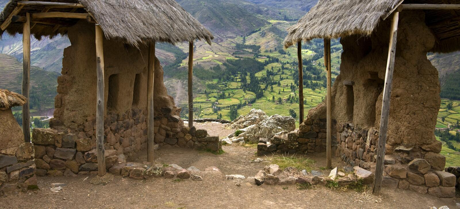 Qantus Raqay - Sacred Valley of the Incas - Peru royalty free stock images