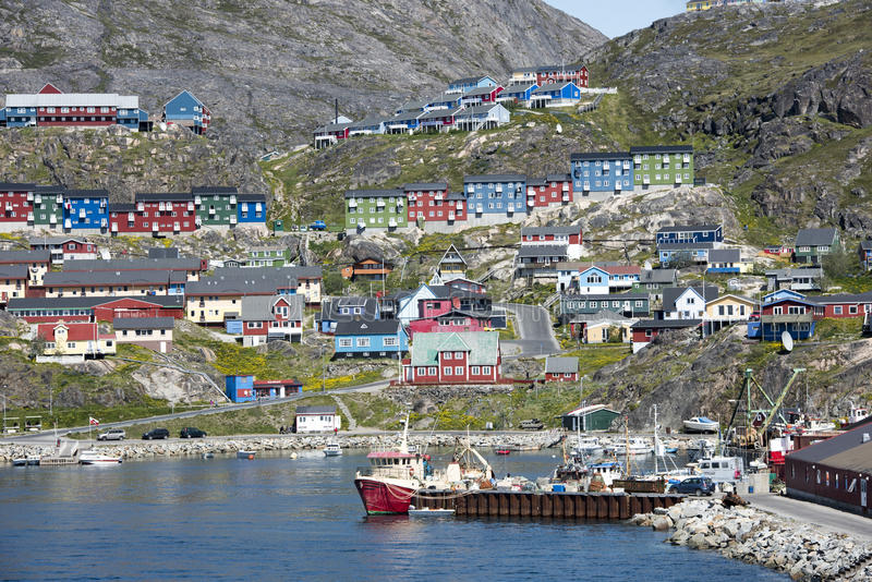 Qaqortoq, Гренландия стоковые изображения rf