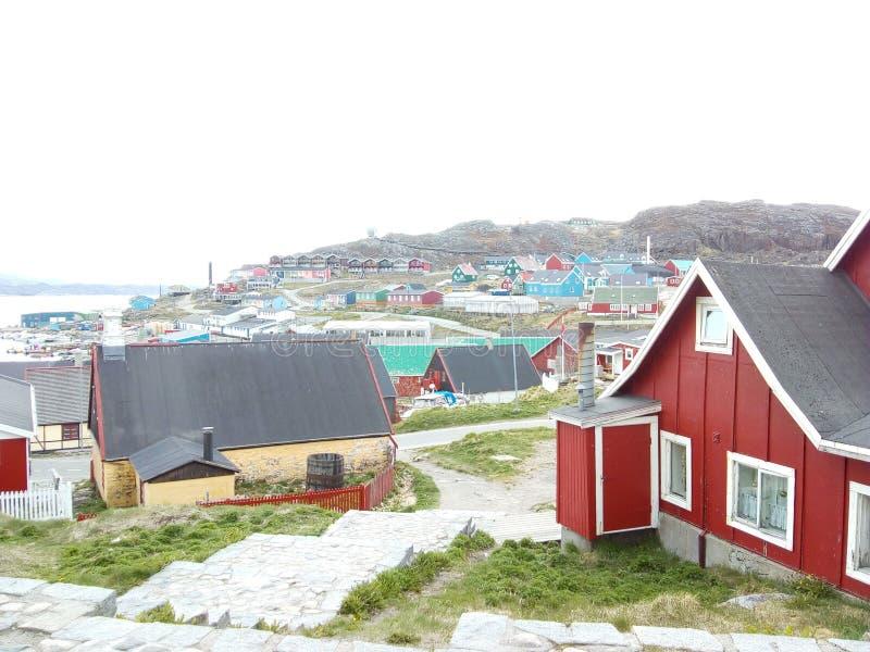 Qaqortoq de Groenlandia fotos de archivo libres de regalías