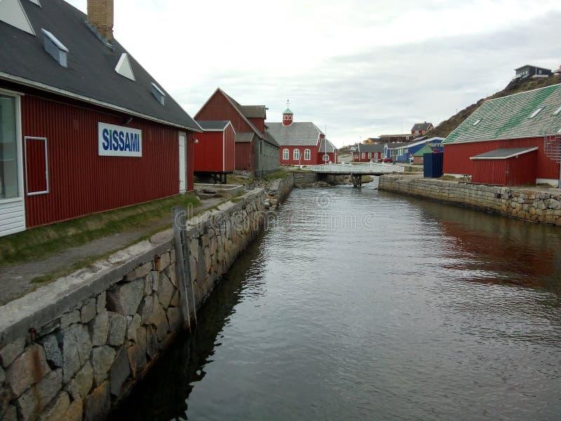 Qaqortoq de Groenlandia imágenes de archivo libres de regalías