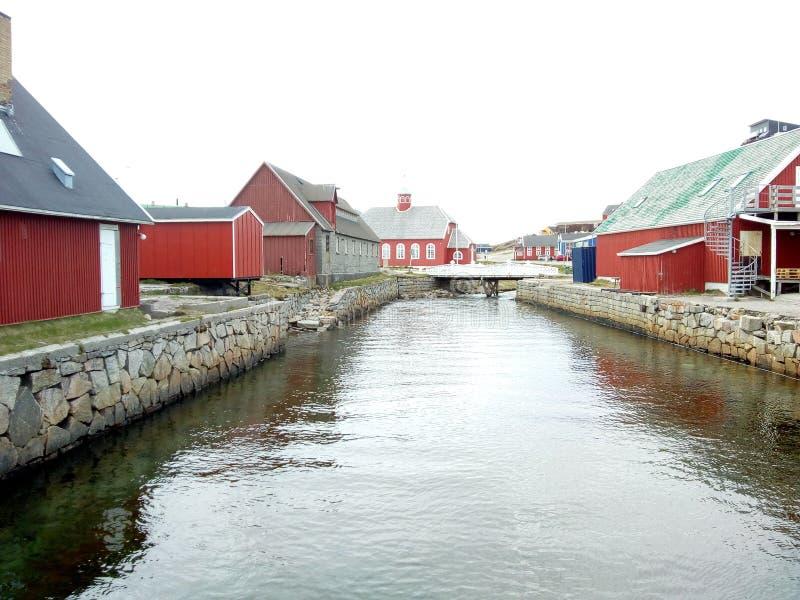 Qaqortoq de Groenlandia imagen de archivo libre de regalías