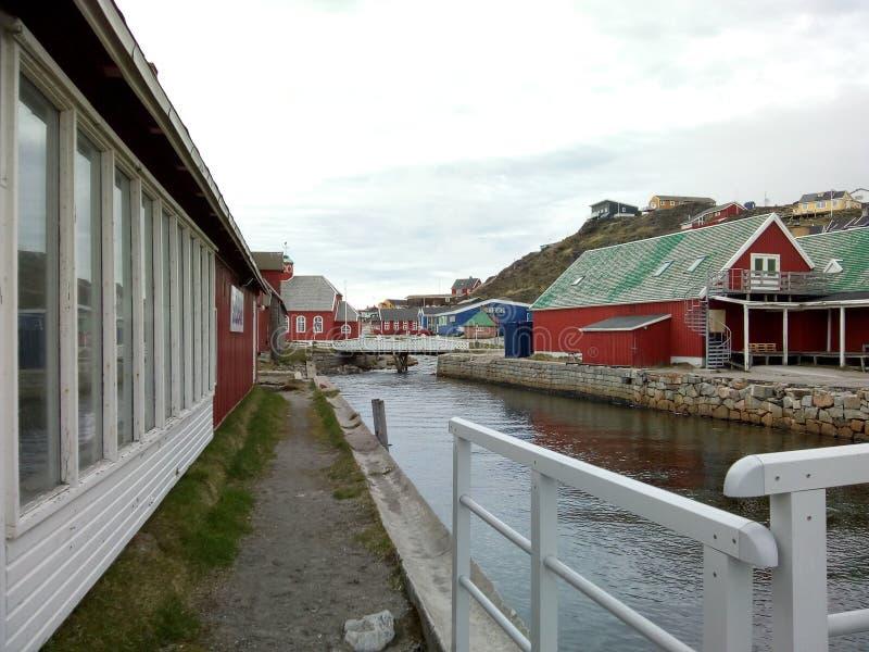 Qaqortoq de Groenlandia foto de archivo