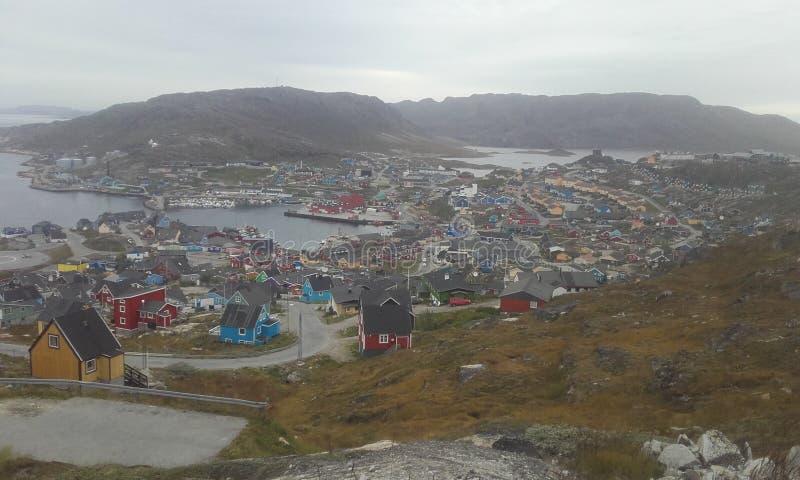 Qaqortoq de Groenlandia Groenlandia del sur Naturaleza Ciudad imágenes de archivo libres de regalías