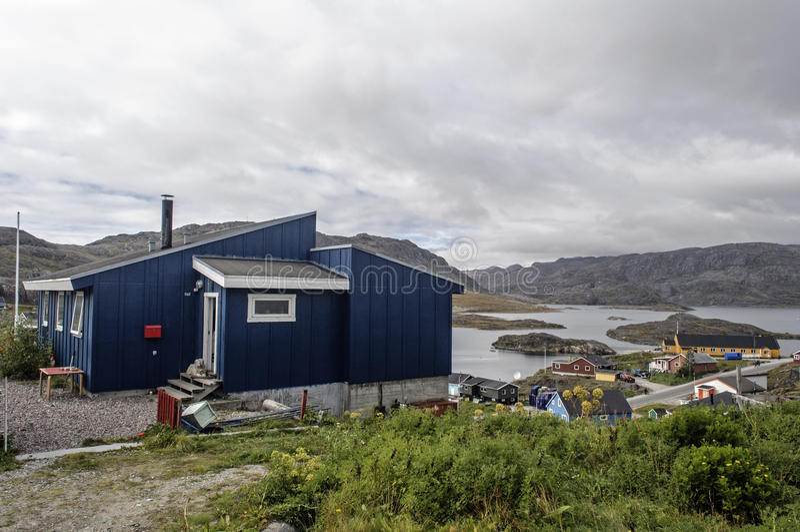 Qaqortoq-landskape, Grönland lizenzfreie stockfotografie