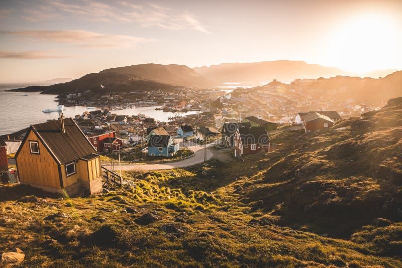 Qaqortoq, Süd-Grönland lizenzfreies stockfoto