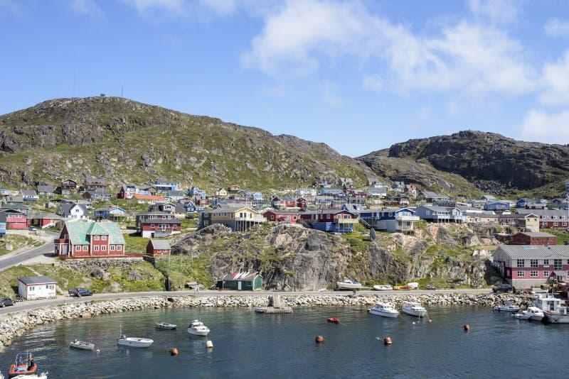 Qaqortoq, Greenland. Boats on port of Qarqortoq, Greenland royalty free stock photo