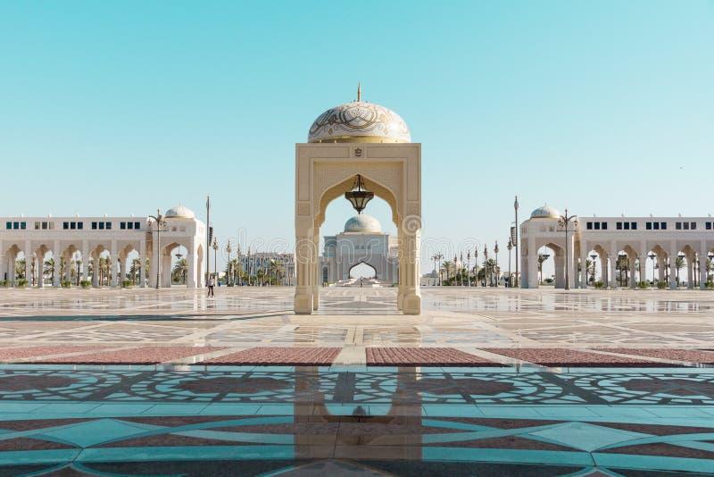 Qasr Al Watan, het Presidentiële Paleis van de V.A.E, Abu Dhabi royalty-vrije stock foto's