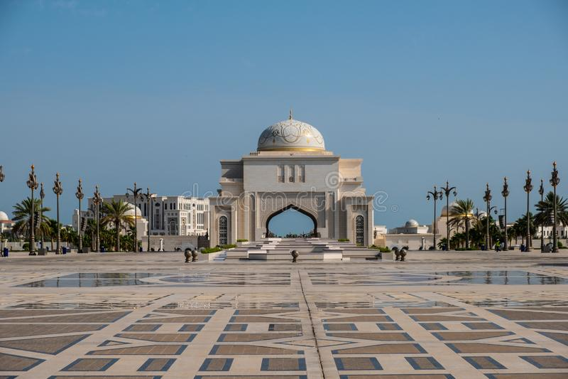 Qasr Al Watan, Palácio Presidencial dos Emirados Árabes Unidos, Abu Dhabi fotos de stock royalty free
