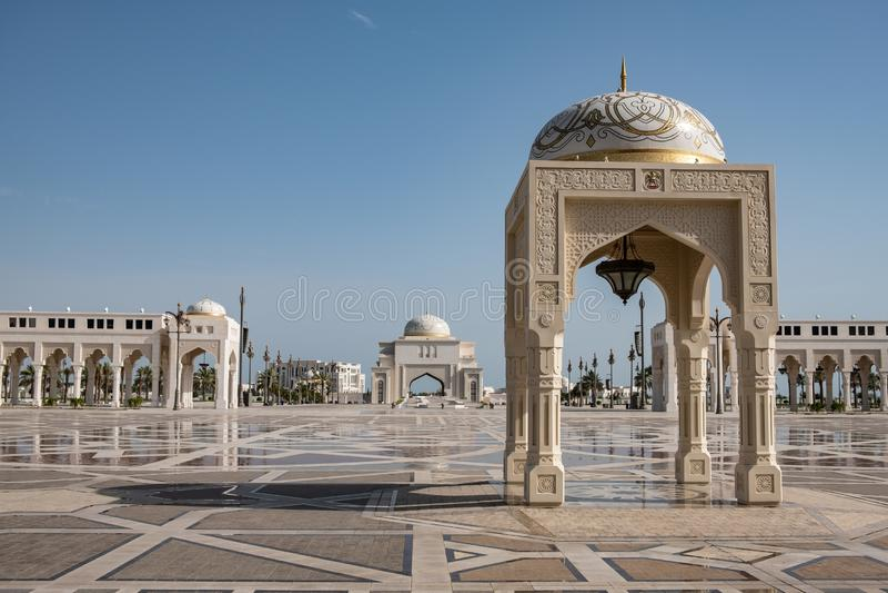 Qasr Al Watan, Palácio Presidencial dos Emirados Árabes Unidos, Abu Dhabi foto de stock