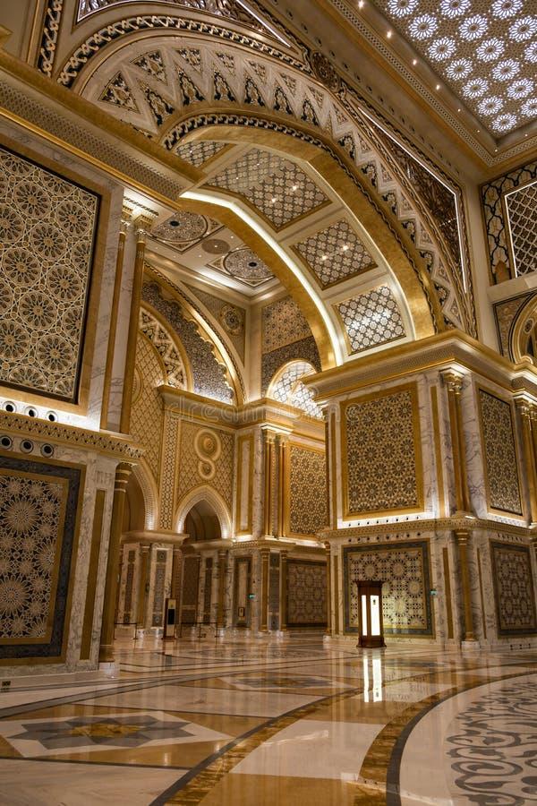 Qasr Al Watan, Palácio Presidencial dos Emirados Árabes Unidos, Abu Dhabi fotografia de stock
