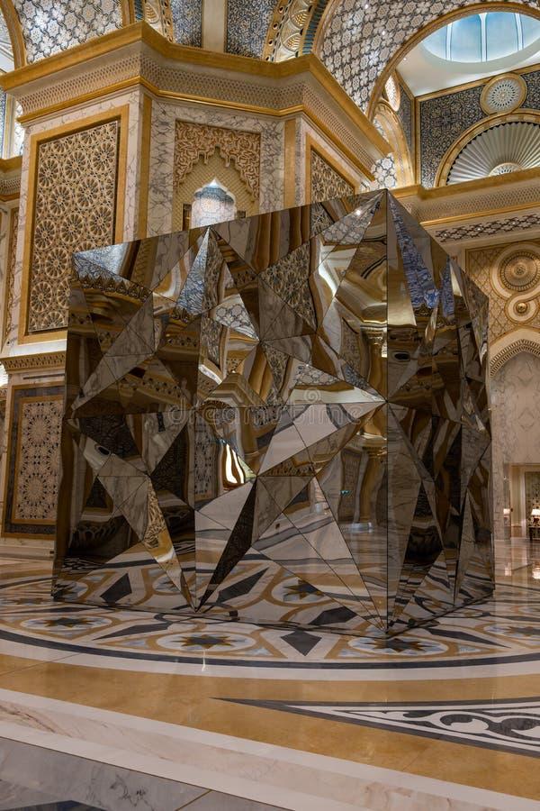 Qasr Al Watan, Palácio Presidencial dos Emirados Árabes Unidos, Abu Dhabi fotografia de stock royalty free