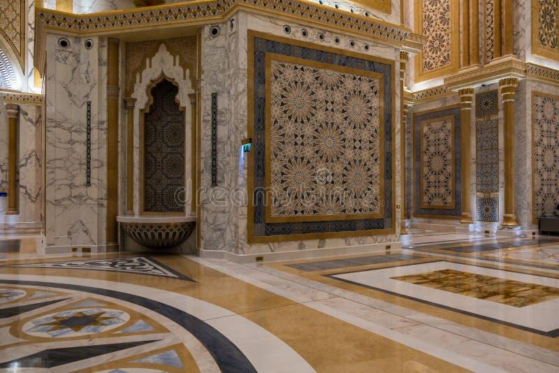 Qasr Al Watan, Palácio Presidencial dos Emirados Árabes Unidos, Abu Dhabi imagens de stock royalty free