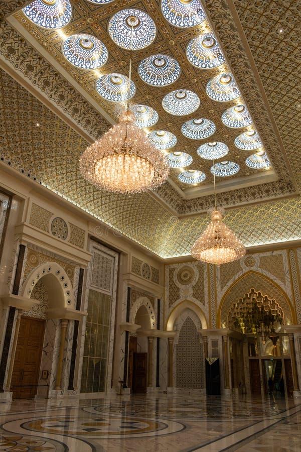 Qasr Al Watan, Palácio Presidencial dos Emirados Árabes Unidos, Abu Dhabi foto de stock royalty free