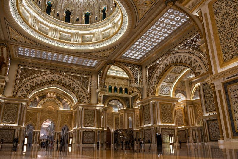 Qasr Al Watan, Palácio Presidencial dos Emirados Árabes Unidos, Abu Dhabi imagem de stock royalty free
