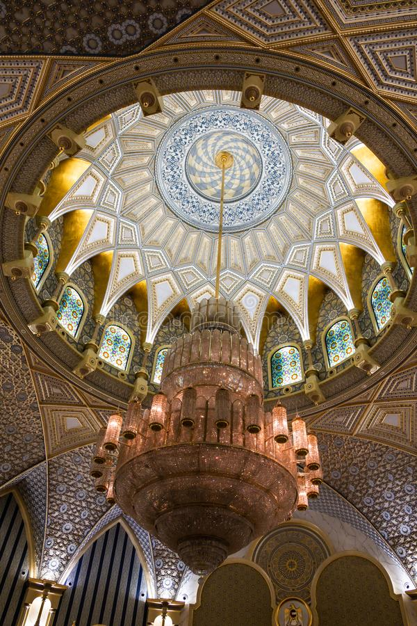 Qasr Al Watan, Palácio Presidencial dos Emirados Árabes Unidos, Abu Dhabi imagem de stock