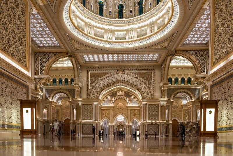 Qasr Al Watan, Palácio Presidencial dos Emirados Árabes Unidos, Abu Dhabi imagens de stock