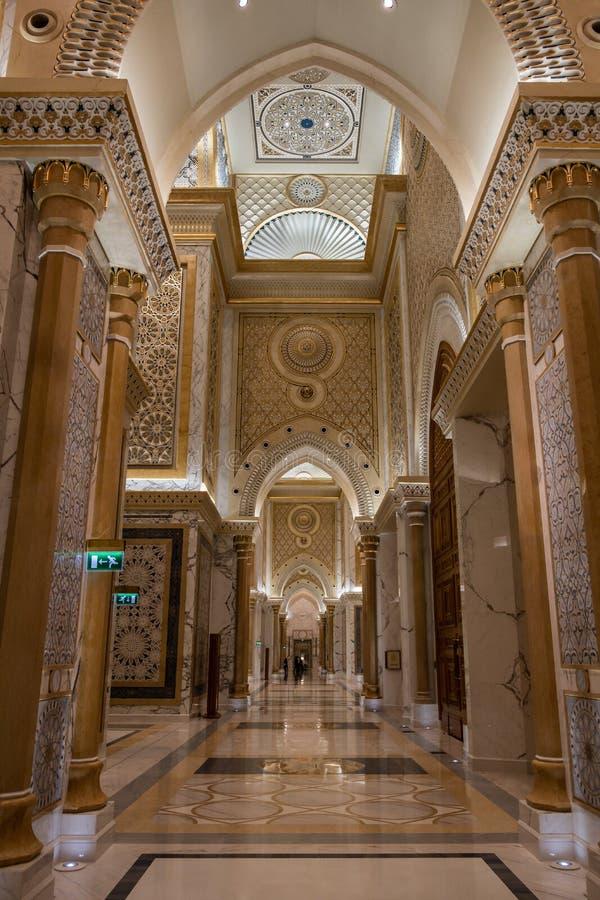 Qasr Al Watan, Palácio Presidencial dos Emirados Árabes Unidos, Abu Dhabi fotos de stock