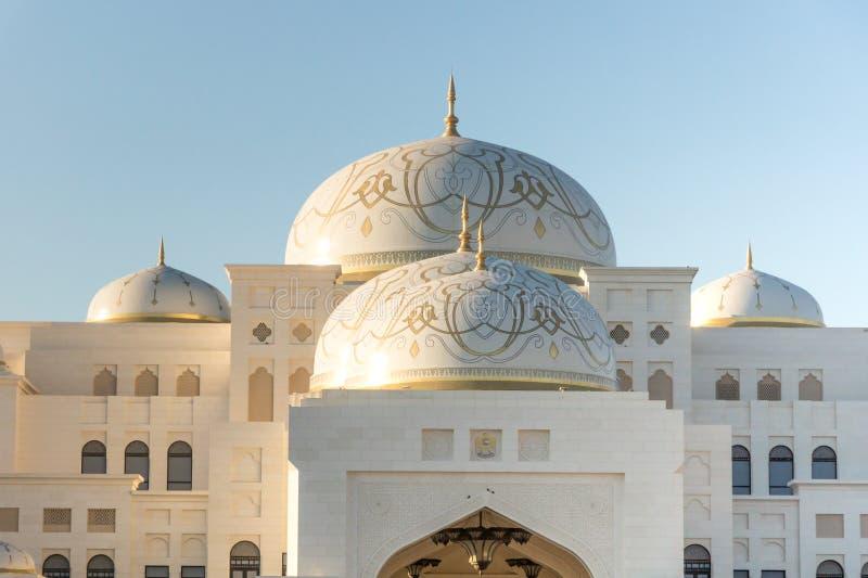 Qasr Al Watan, palácio presidencial dos UAE, Abu Dhabi imagens de stock