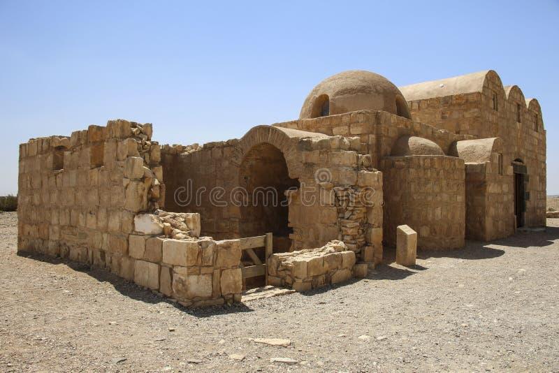 Qasr Amra, castillo del desierto cerca de Amman, Jordania Sabido con su famo fotografía de archivo