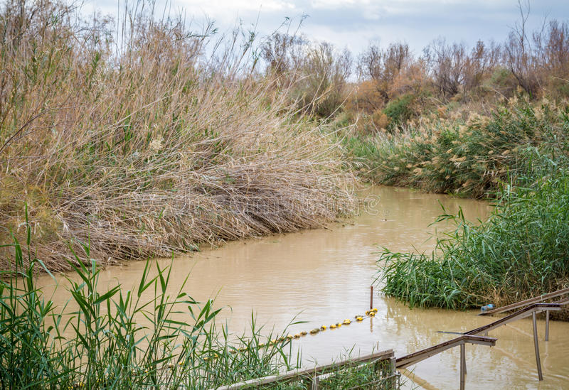 Qasr EL Yahud, Taufestandort, Jordan River in Israel lizenzfreie stockfotos