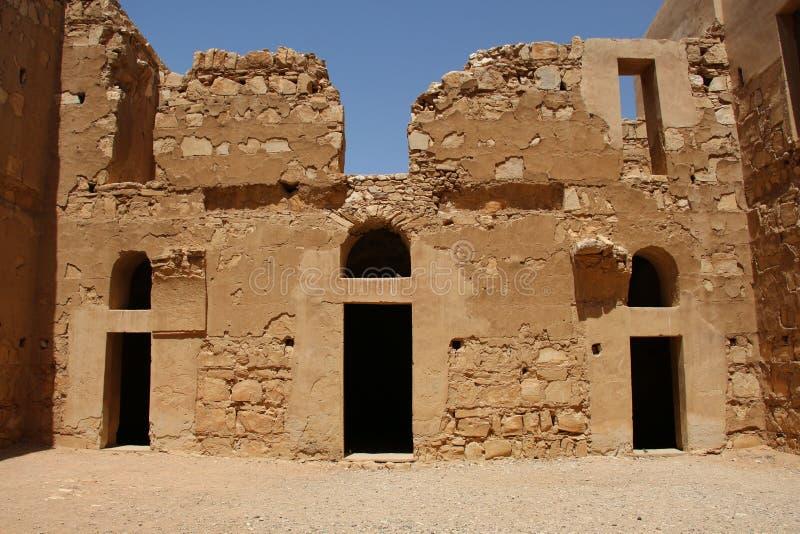 Qasr Kharana, el castillo del desierto en Jordania del este imágenes de archivo libres de regalías