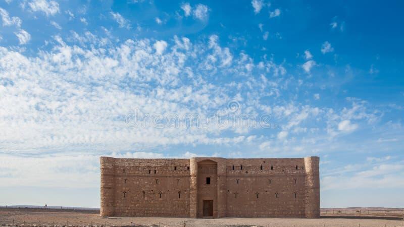 Qasr Kharana, Giordania immagine stock