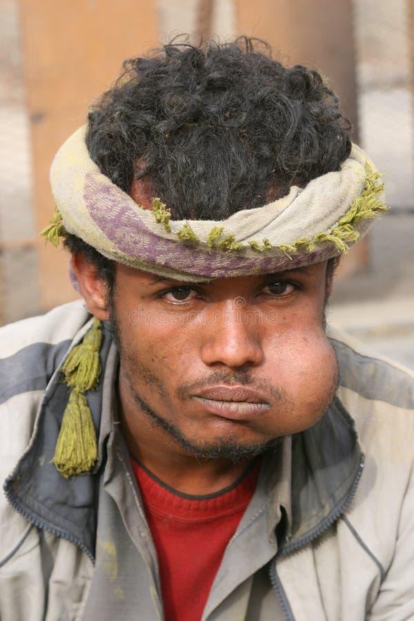 Qat Verbrauch in Yemen stockbilder