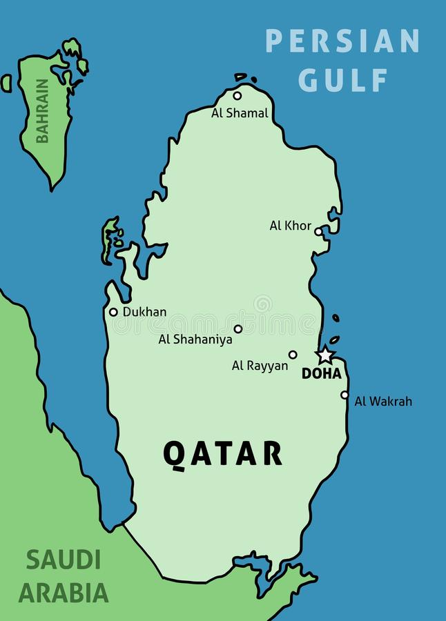 qatar royalty illustrazione gratis