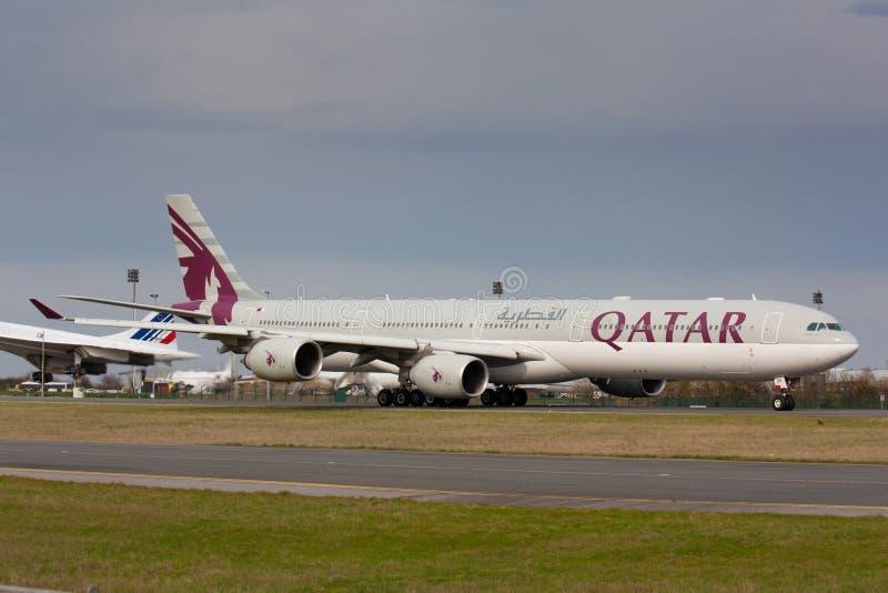 A340 Qatar imagen de archivo