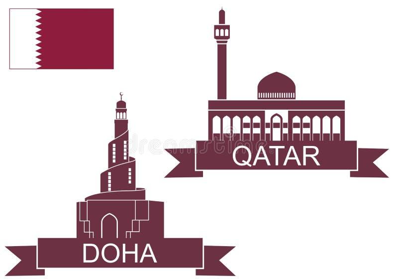 qatar illustrazione vettoriale