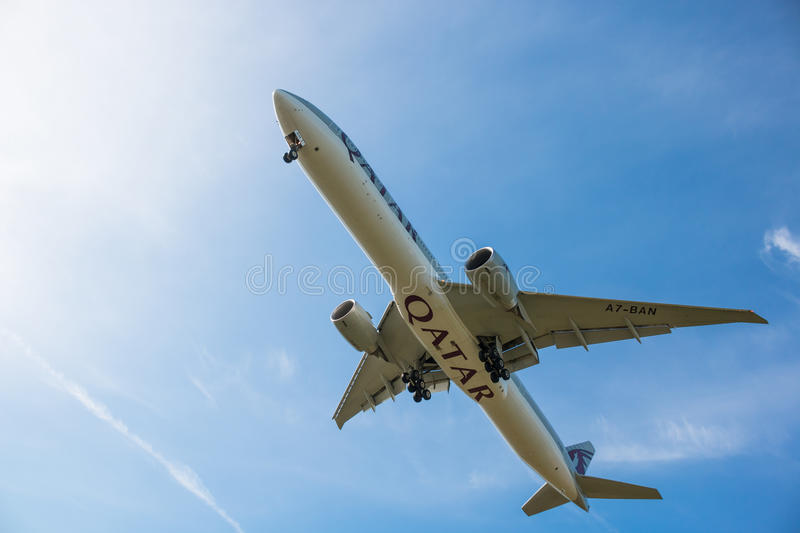 Qatar Airlines Plane royalty free stock photography