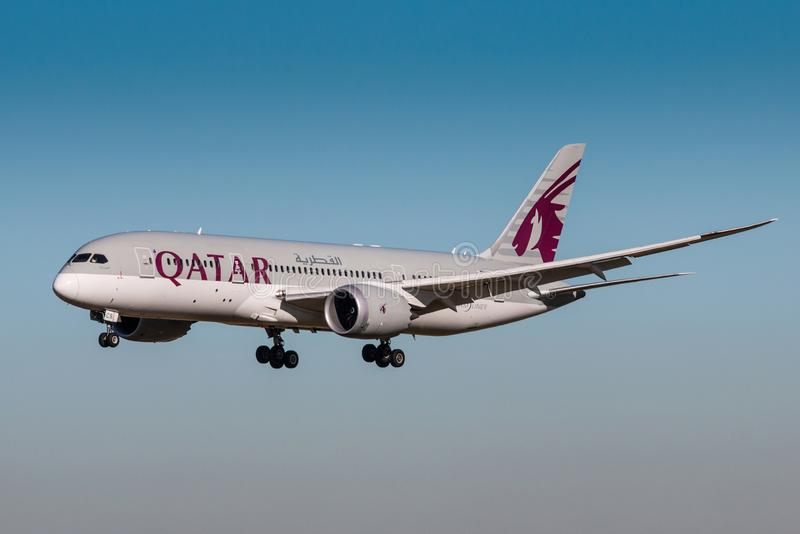 Qatar Airways imagenes de archivo