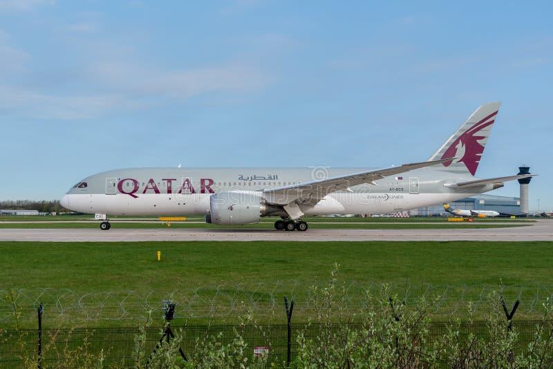 Qatar Airways Boeing 787 photographie stock libre de droits