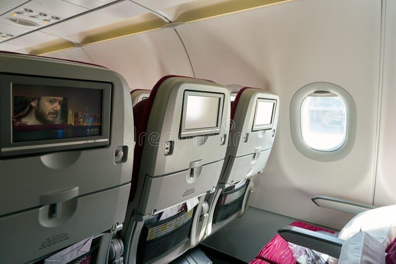Qatar Airways flygbuss A320 royaltyfri fotografi