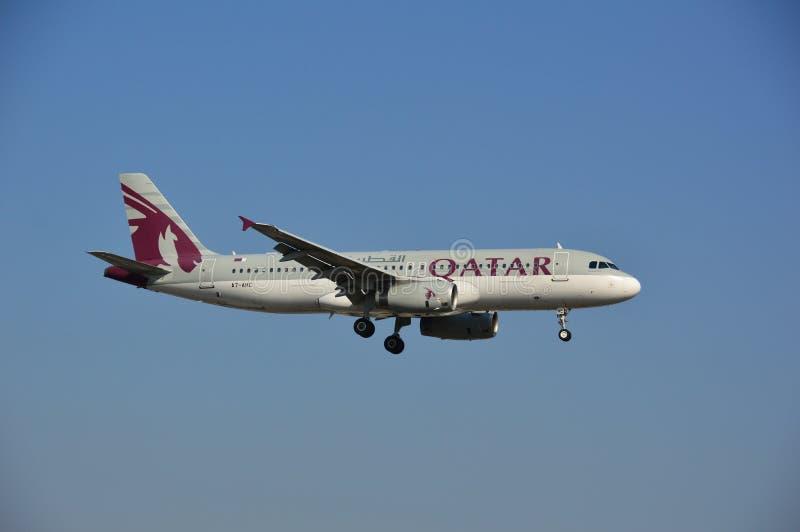 Qatar Airways hebluje obrazy stock