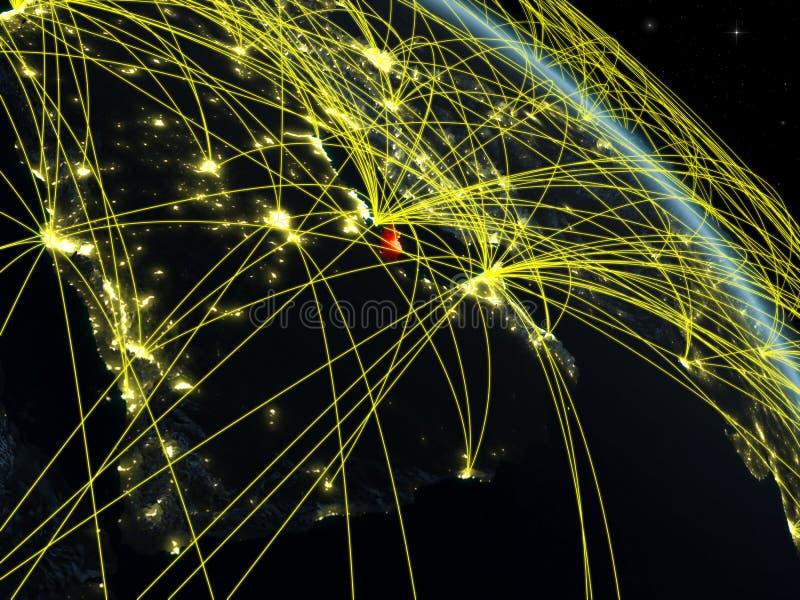 Qatar del espacio con la red libre illustration