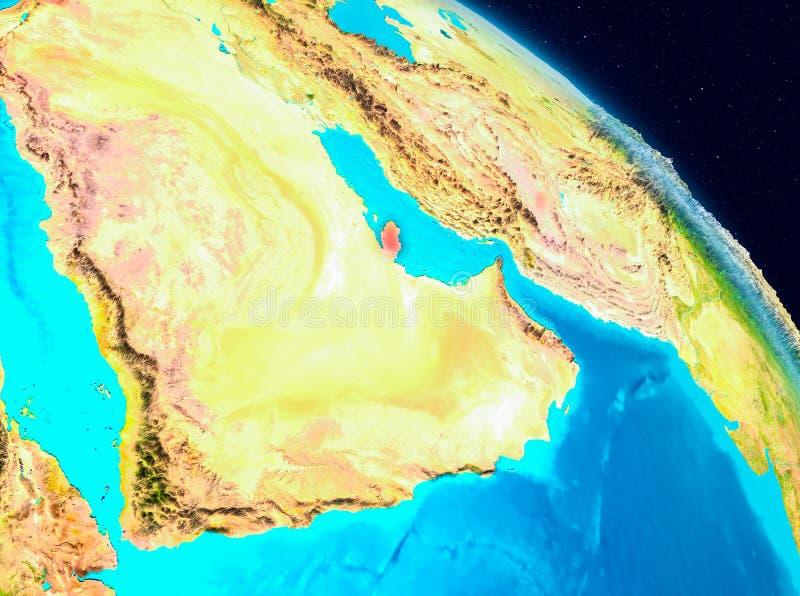Qatar en la tierra libre illustration