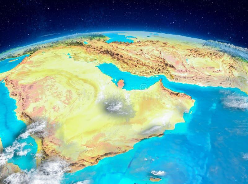 Qatar en la tierra ilustración del vector