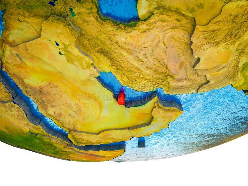 Qatar en la tierra 3D ilustración del vector